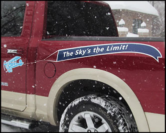 Scenic Sky truck lettering 2